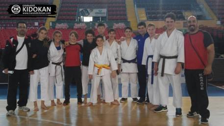 Equipo Kidokan que ha participado en el Campeonato de Liga Cadete Junior 2015