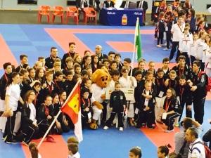 Selección Andaluza infantil de Karate que ha disputado este Campeonato de España celebrado en Córdoba