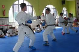Alumnos de Sensei José Manuel realizando Jyu Kumite