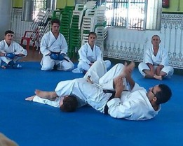 Sensei José Manuel Domínguez, profesor de Karate en este y otros centros de Dos Hermanas