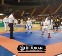 La competición de Kumite fue muy interesante, especialmente la categoría Juvenil-Cadete Masculino B