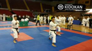 Equipo Kidokan Campeón en Kata Senior B, compuesto por Álvaro Redondo (Campeón de España Kata), Sergio Redondo (ex-miembro de la Selección Andaluza de Kata) e Ilde Iglesias (3 clasf. Cto. España Kata Equipos)