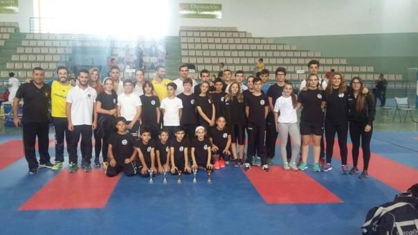 Representantes de la Delegación Sevillana de Karate en el torneo