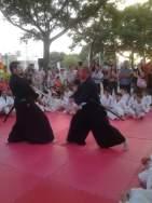 Uno de los momentos más interesantes fue la demostración de Kenjutsu