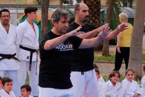 El maestro José Navarro comenzando la Forma de 16 movimientos del estilo Yang de Tai CHhi