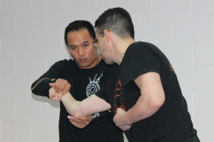Master showing techniques