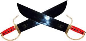 Espadas Mariposa, una de las armas que se emprean en Kung Fu
