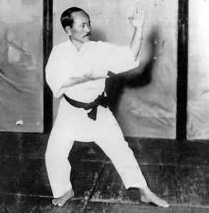 Inicio del Kata Kuhanku Dai (Kanku Dai), correspondiente al 3er. Kyu