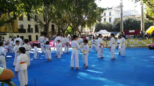"""Espacio destinado en """"Vive La Alameda"""" a la celebración de esta edición del Día del Karate Sevillano"""