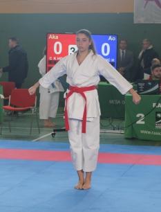 Ana Ramírez debutó en la competición de Kata
